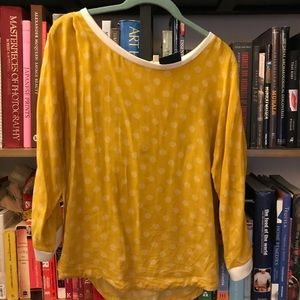 Maeve golden yellow print blouse size 4
